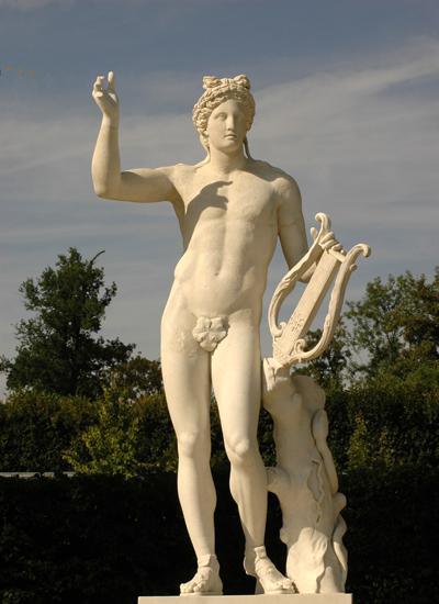 Apollon à la lyre. Anonyme.