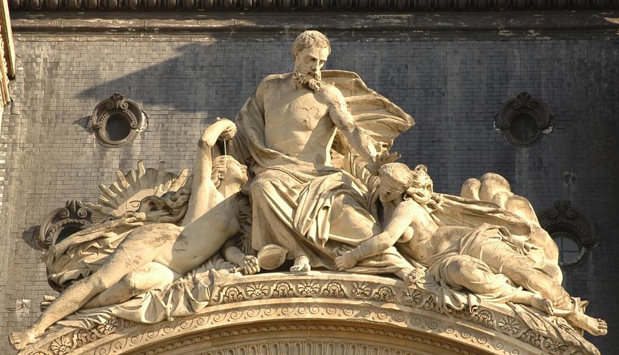 Le Sage accueillant la Vérité. Jean Marie Bonnassieux