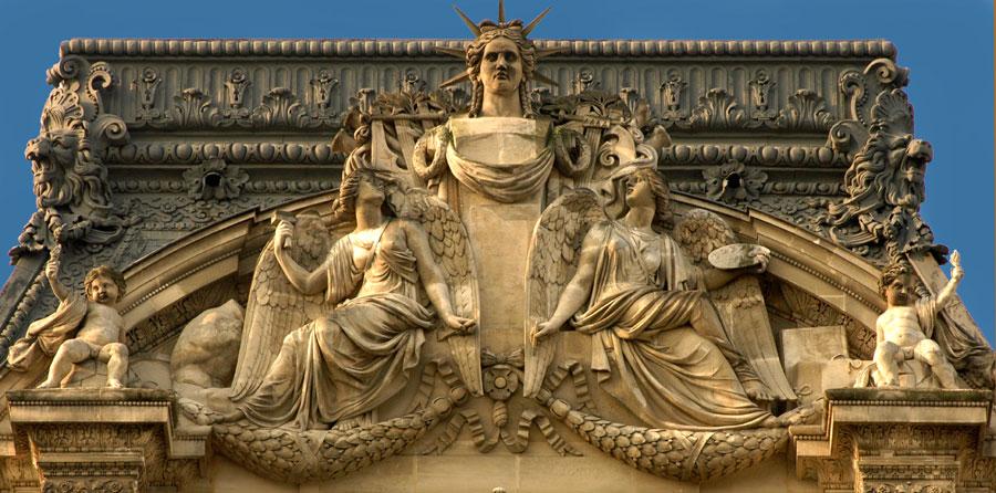 La Sculpture et la Peinture. Jean Louis Brian, jeune