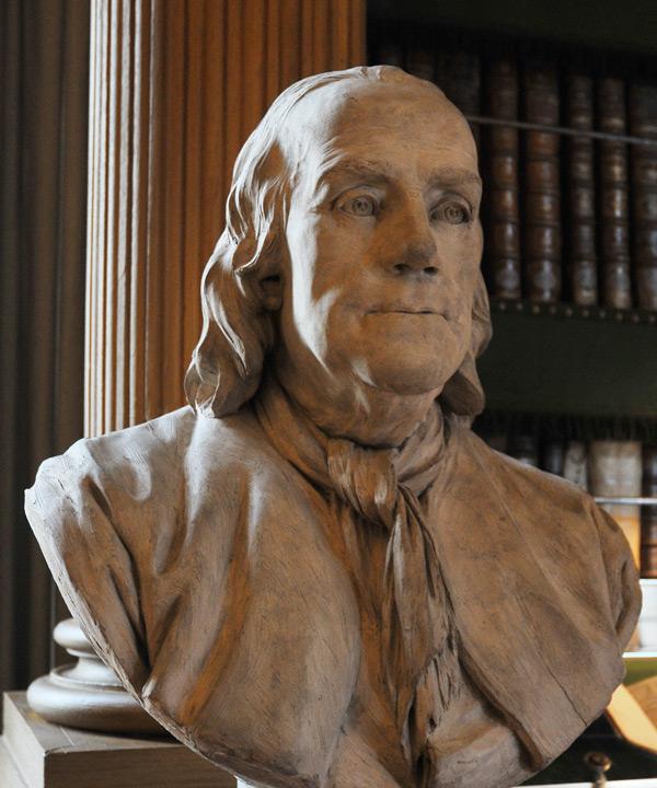 Franklin. Jean Jacques Caffieri.