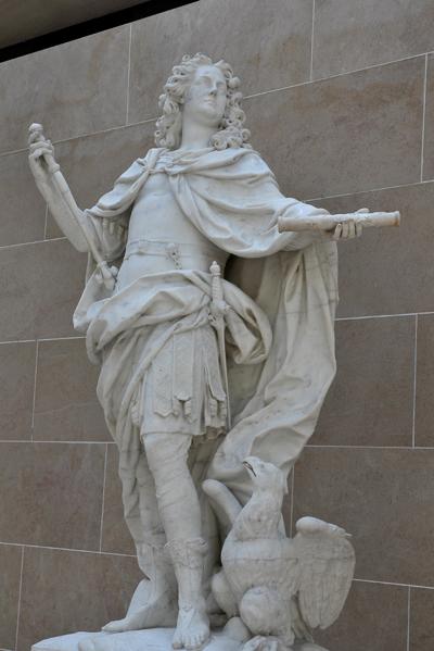 Louis XV en Jupiter. Nicolas Coustou.