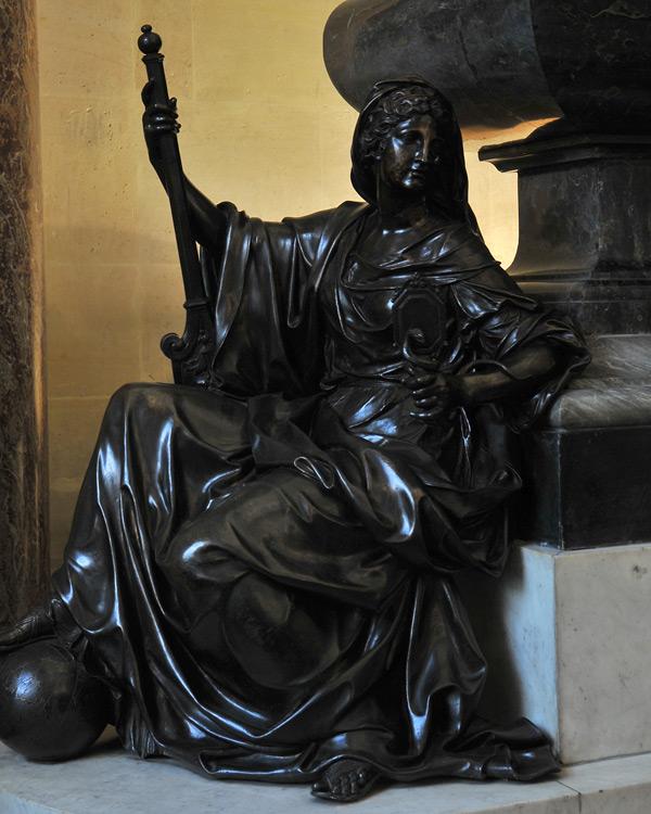 Monument à Mazarin- La Prudence. Antoine Coysevox