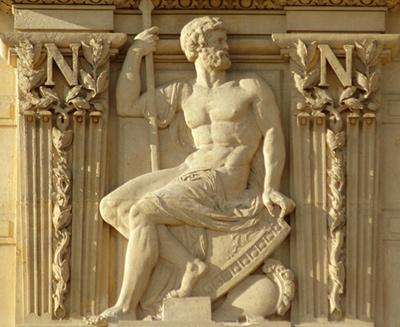 Bas-relief. Jules Franceschi