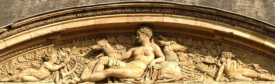 Diane sur un cerf. Pierre Louis Rouillard, Paul et Numa Lechesne.