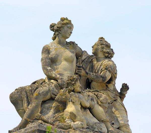 Vénus enlaçant Adonis. Louis Le Conte.