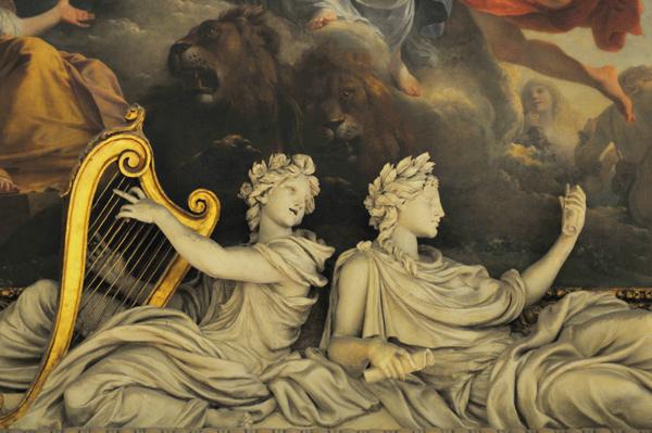 Terpsichore et Polymnie. Balthazar Marsy.