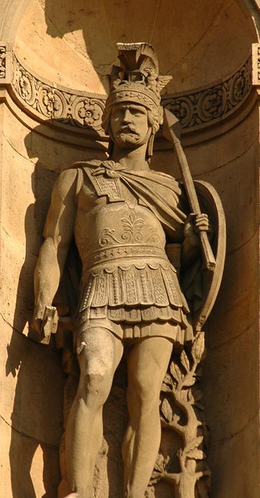 Le Guerrier attendant le combat. Eugène André Oudiné.