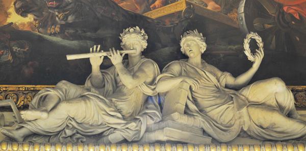 Euterpe et Clio. Thomas Regnaudin.