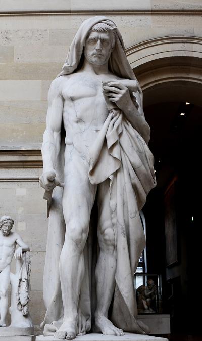 Caton d'Utique  lisant le Phédon avant de se donner la mort. François Rude