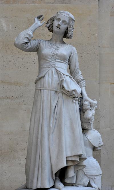 Jeanne d'Arc écoutant ses voix. François Rude.