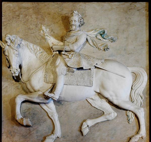 Henri IV à cheval. Mathieu Jacquet.