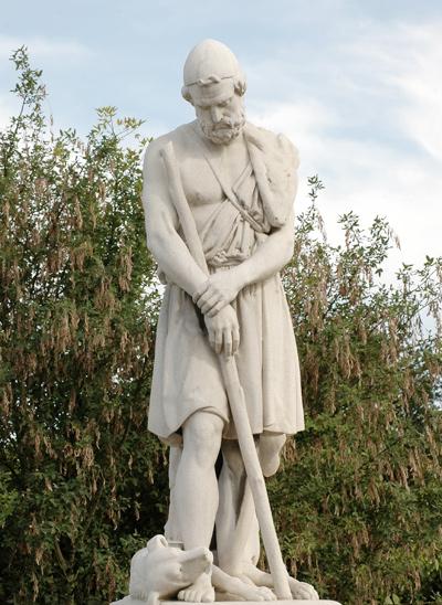 Ulysse reconnu par son chien. Jean Auguste Barre.