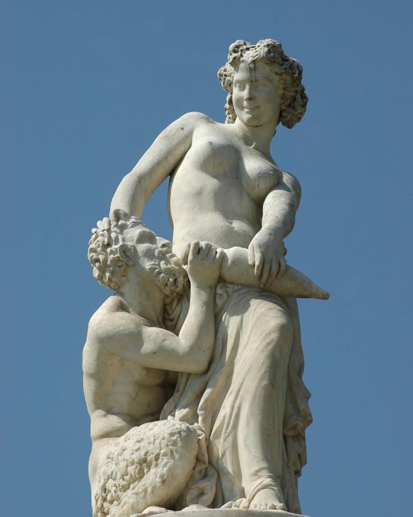 Bacchante et satyre.  Gustave Crauk