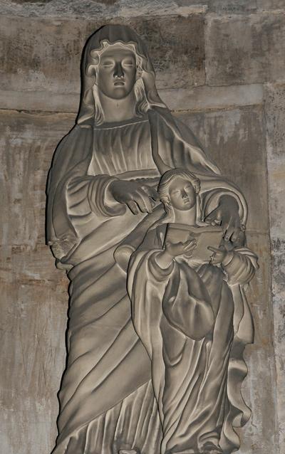 Education de la Vierge. Anonyme.