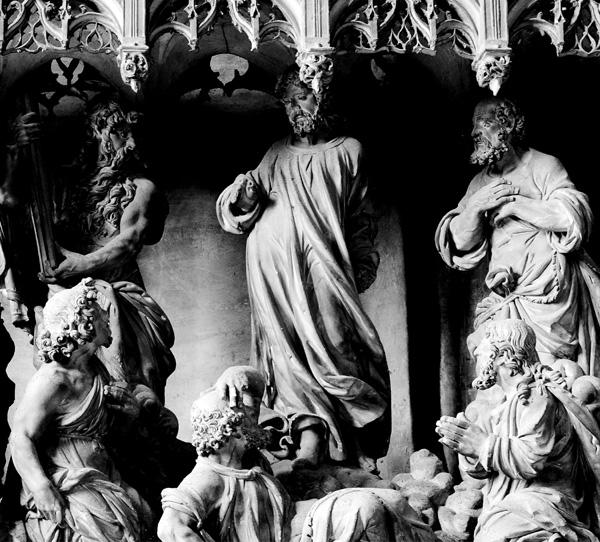 La Transfiguration. Jésus a emmené Pierre, Jacques et Jean au Thabor. Thomas Boudin.