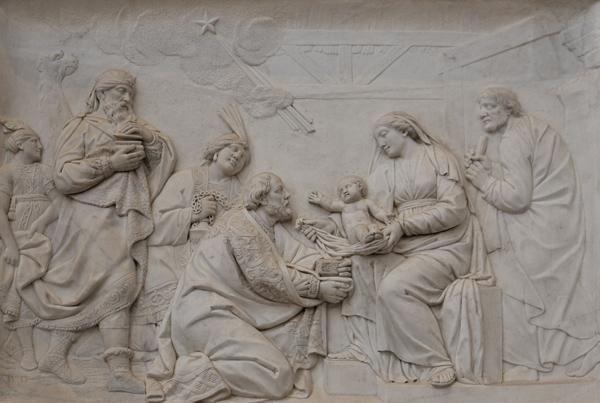 L'Adoration des Mages. Charles Antoine Bridan