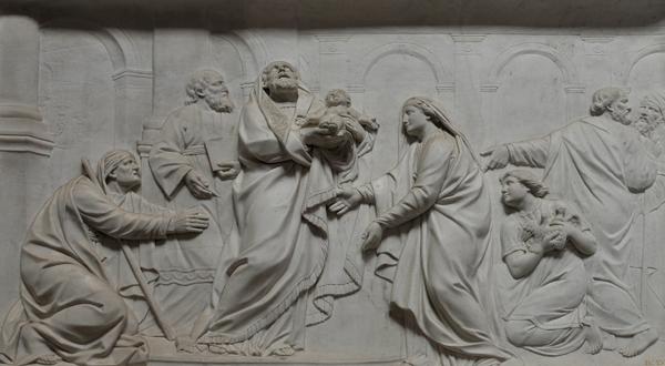 La Présentation au Temple. Charles Antoine Bridan.