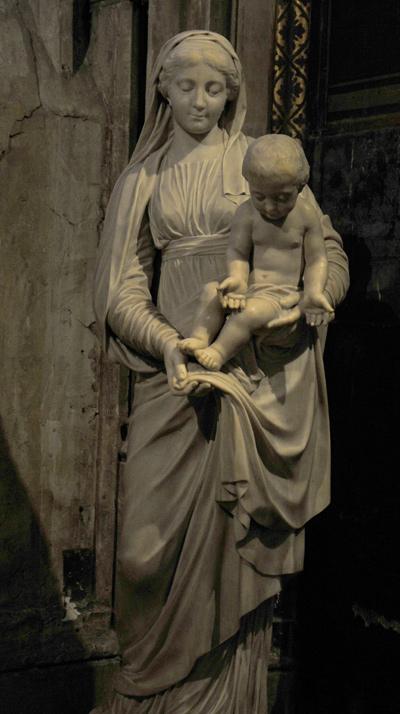 Vierge à l'Enfant. Charles Antoine Bridan.