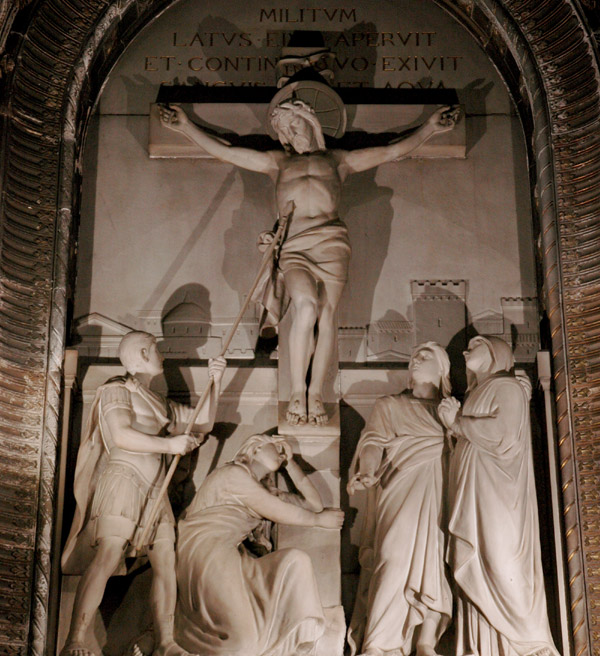 Marie au pied de la Croix. Charles Dufraine.