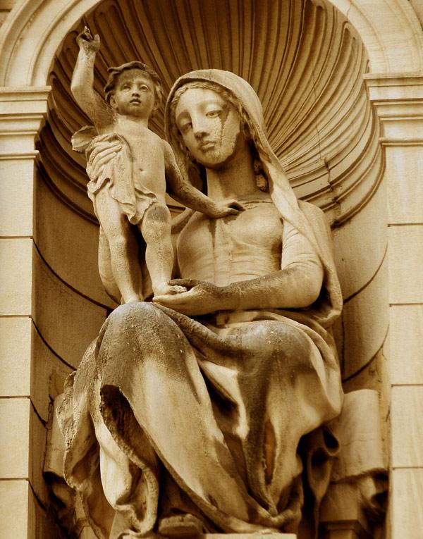 Vierge et l'Enfant. Charles Dufraine.