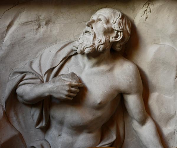 Saint Jérôme se frappant la potrine. François Girardon.