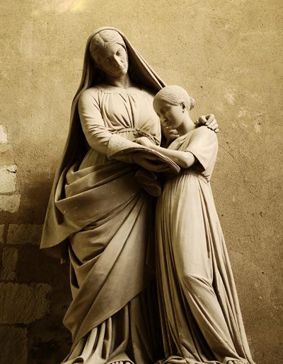 L'Education de la Vierge. Pierre Gourdel.