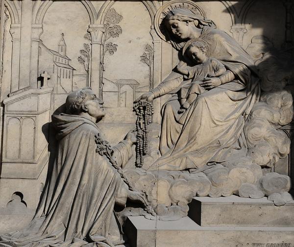 Vierge donnant le Rosaire à Saint Dominique. Théodore Charles Gruyère