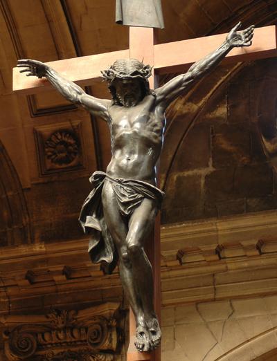Christ en Croix. Hippolyte Maindron.