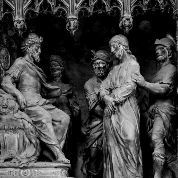 Jésus devant Pilate. Simon Mazière.