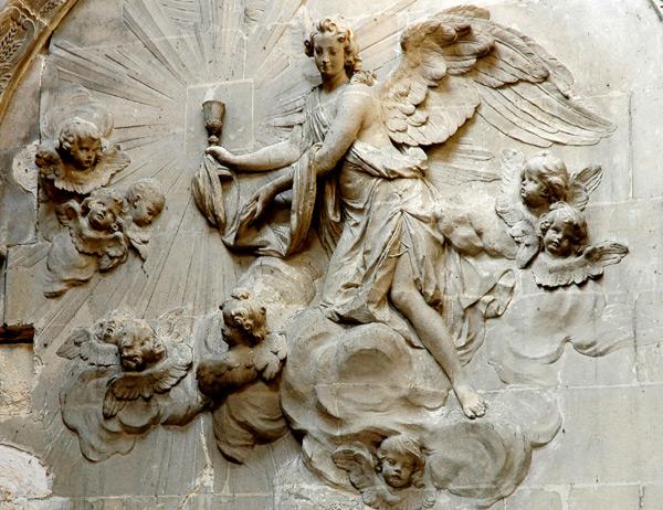 Ange tenant le Calice. Paul Ambroise Slodtz.