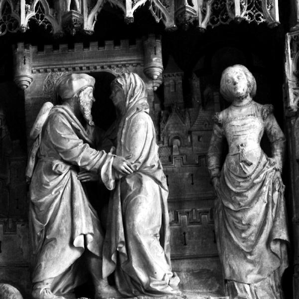 Les deux époux se rencontrent à la Porte Dorée de Jérusalem. Jean Soulas.