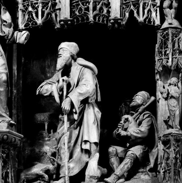 Joachim en prière entre deux bergers. Jean Soulas.