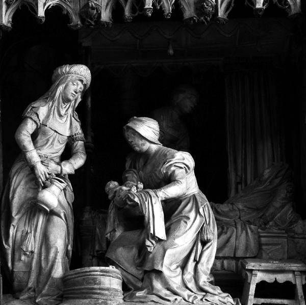 Anne vient de mettre au monde la Vierge Marie. Jean Soulas.