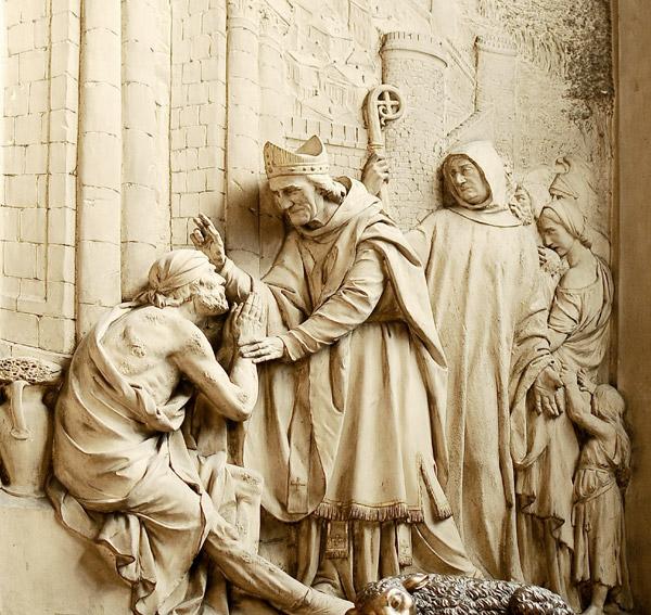 Saint Martin et les lépreux. Verrebout.