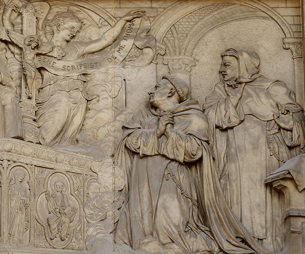 Jésus Christ louant Saint Thomas sur sa doctrine. Victor Vilan