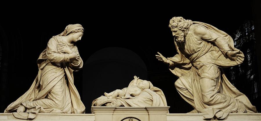 La Nativité. Michel Anguier.