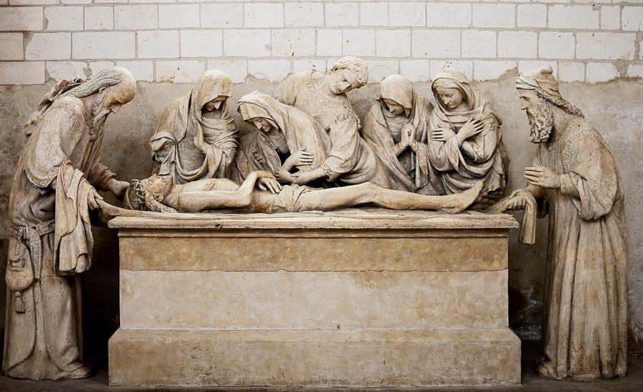 Mise au tombeau. Anonyme.