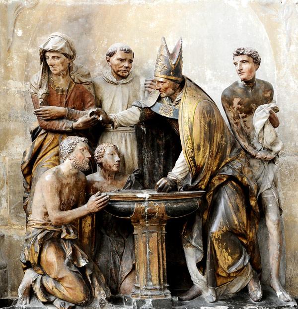 Baptême  de Saint Augustin. Anonyme.