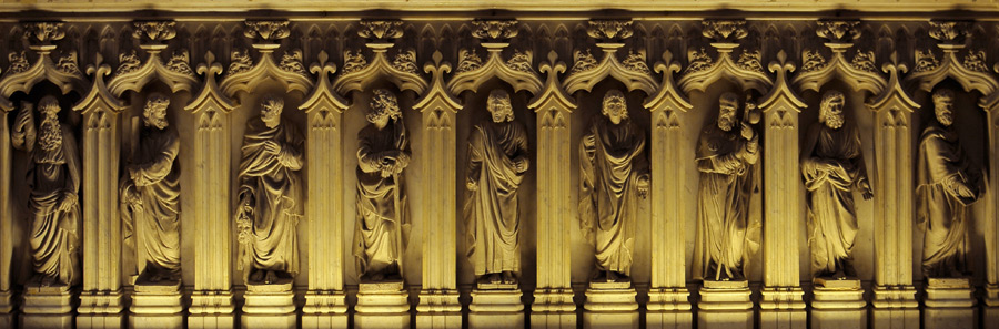 Christ et les douze apôtres. Anonyme.