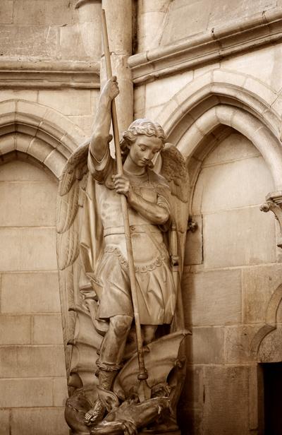 Saint Georges terrassant le dragon. anonyme.
