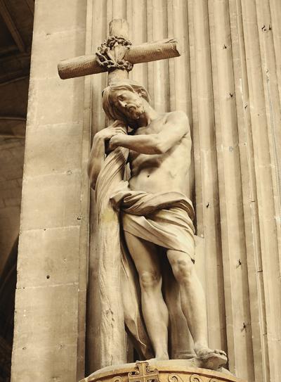 Le Christ appuyé sur la Croix. Edme Bouchardon.