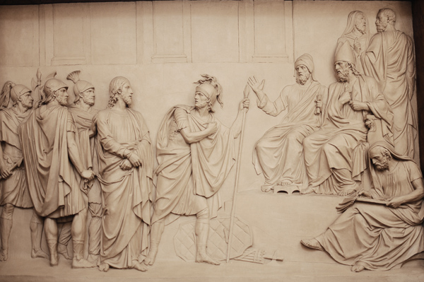Jésus et Pilate. Jean Pierre Deseine.