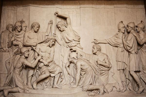 Jésus couronné d'épines. Louis Pierre Deseine.