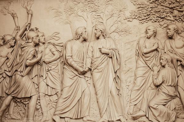 Jésus trahi par Judas. Louis Pierre Deseine.