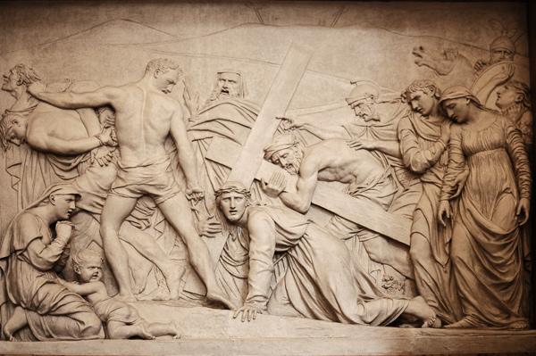 Jésus portant la Croix. Louis Pierre Deseine.