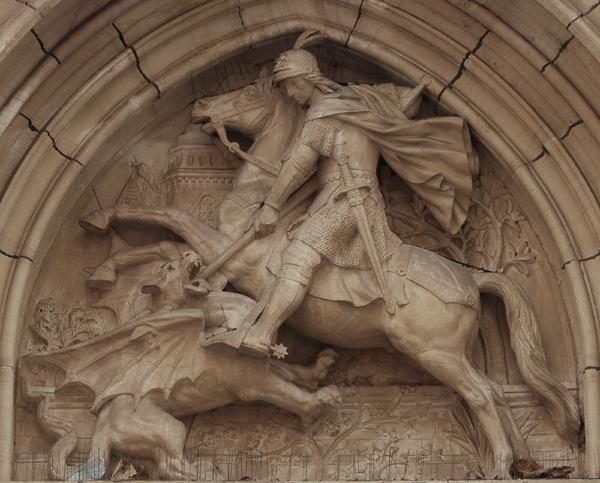 Saint Georges terrassant le dragon. Charles Dufraine