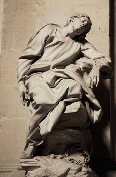Jésus au jardin des oliviers. Etienne Maurce Falconet.