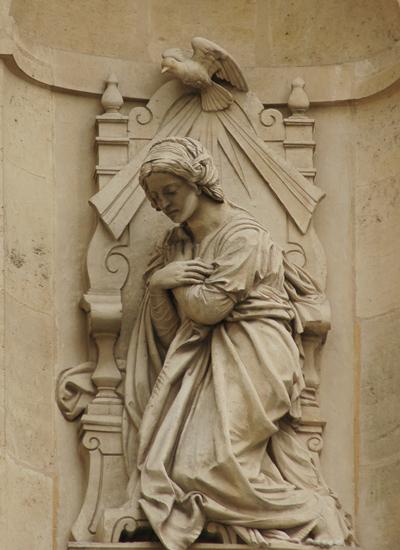 Vierge agnouillée. Joseph Félon.