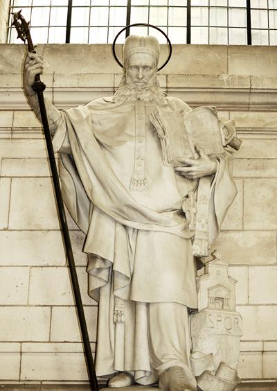 Saint Grégoire de Tours. Emmanuel Frémiet.
