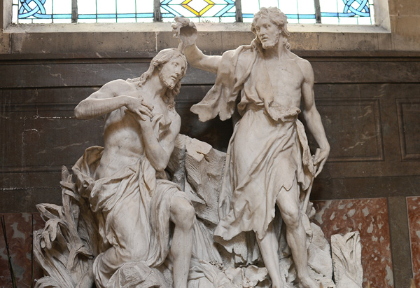 Le Baptême du Christ. Jean Baptiste Lemoyne.